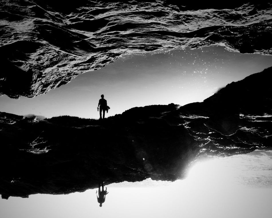 Uniqueness Silhouette One Person Nature Landscape Sky Star - Space Milky Way EyeEm Best Shots Point Lobos West Coast Sunset Eye4photography  Sunset_collection Point Lobos State Natural Reserve Monochrome Photography Adopted To The City Monochrome Welcome To Black Long Goodbye