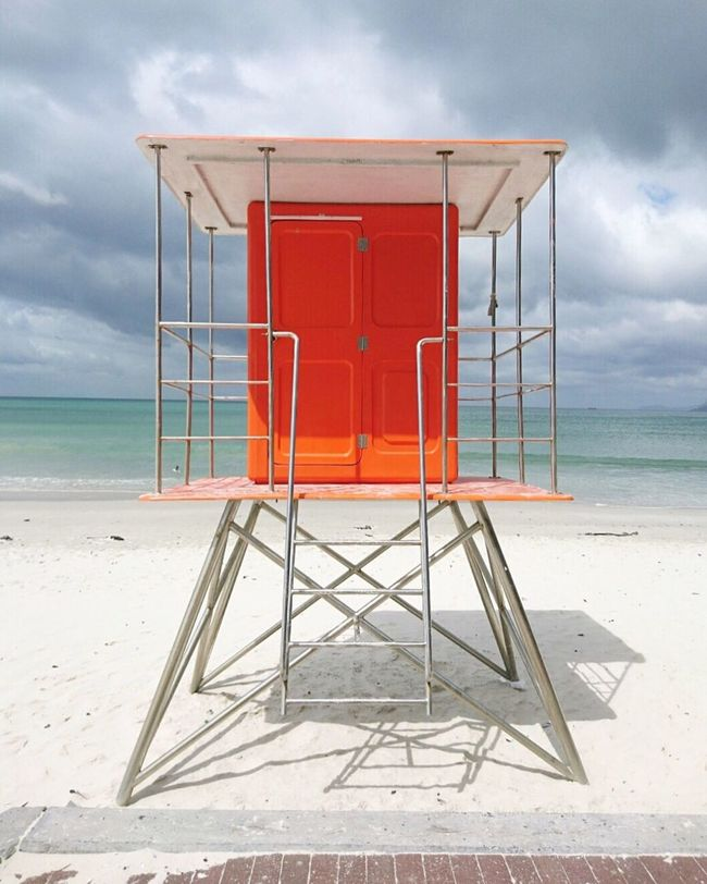 beach. Sea Beach Sand Horizon Over Water Safety Lifeguard  Tranquility Nature Sky Water No People Lifeguard Hut Beauty In Nature Scenics Shore Seat Outdoors Protection Ocean South Africa