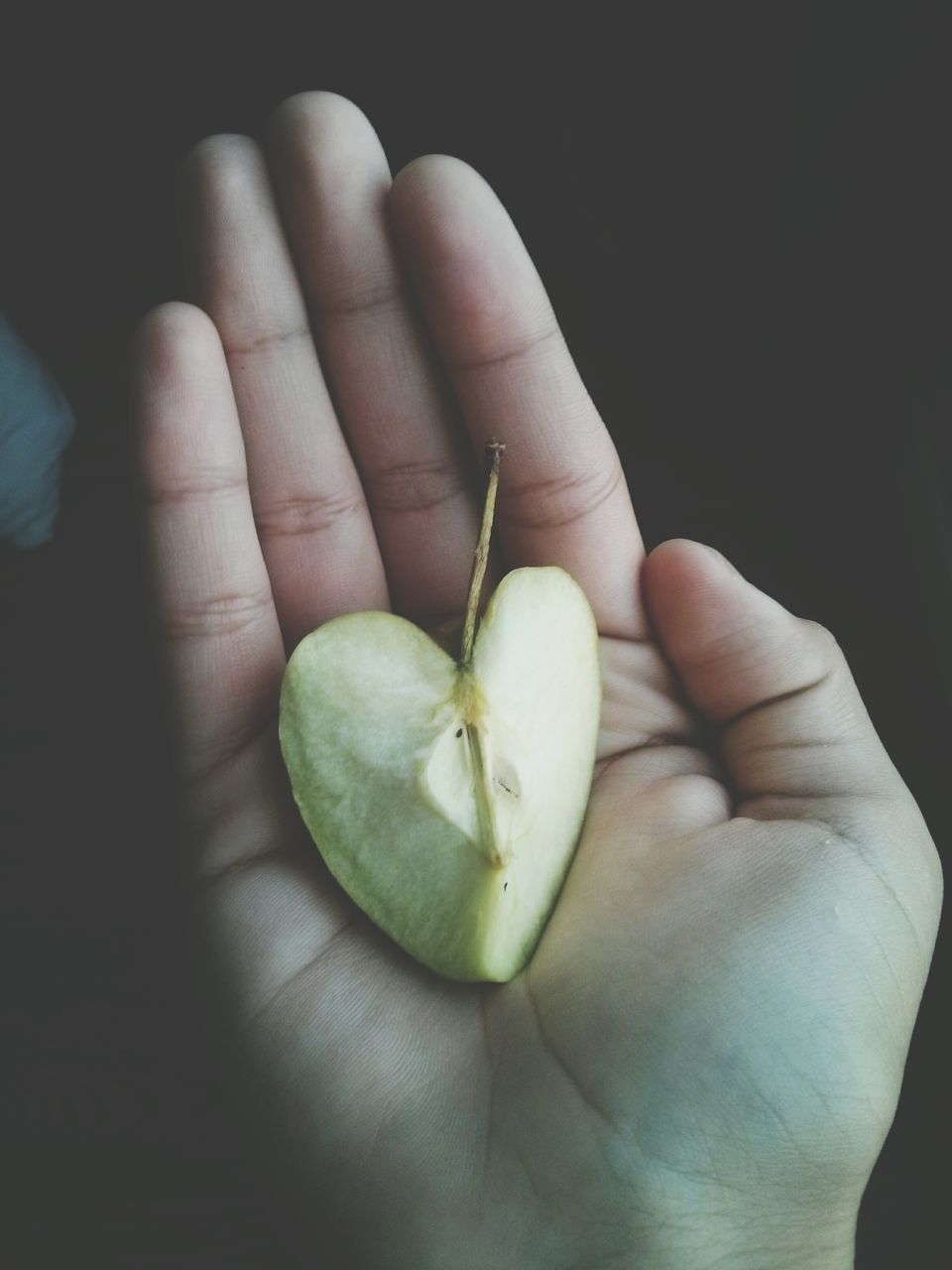 Person Holding Carved Apple