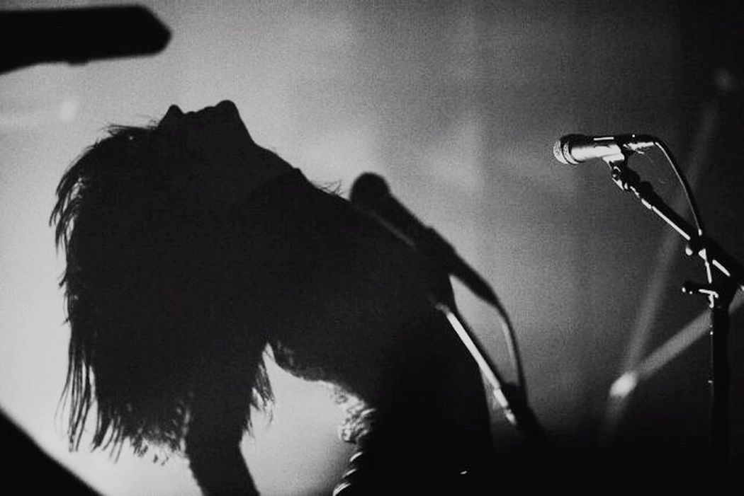 Everythingisburningtour Music Silhouette Microphone Stage - Performance Space Performance Iamx Tour On The Way That's Me!