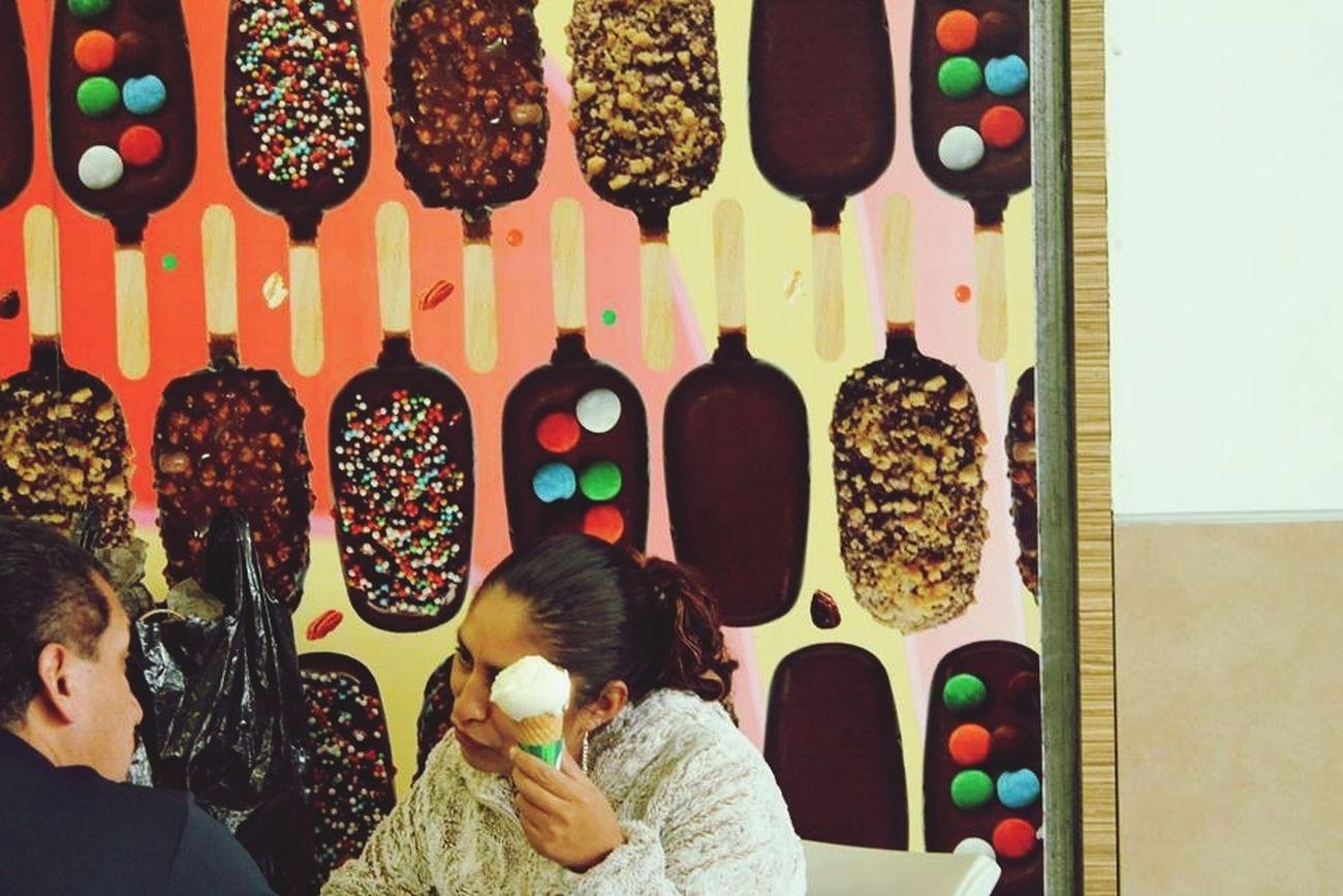 Seré tu helado favorito. Disfrútame.