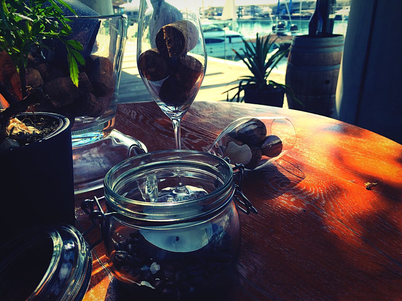 drinking glass, drink, food and drink, table, indoors, no people, jar, alcohol, freshness, day, food, close-up, animal themes