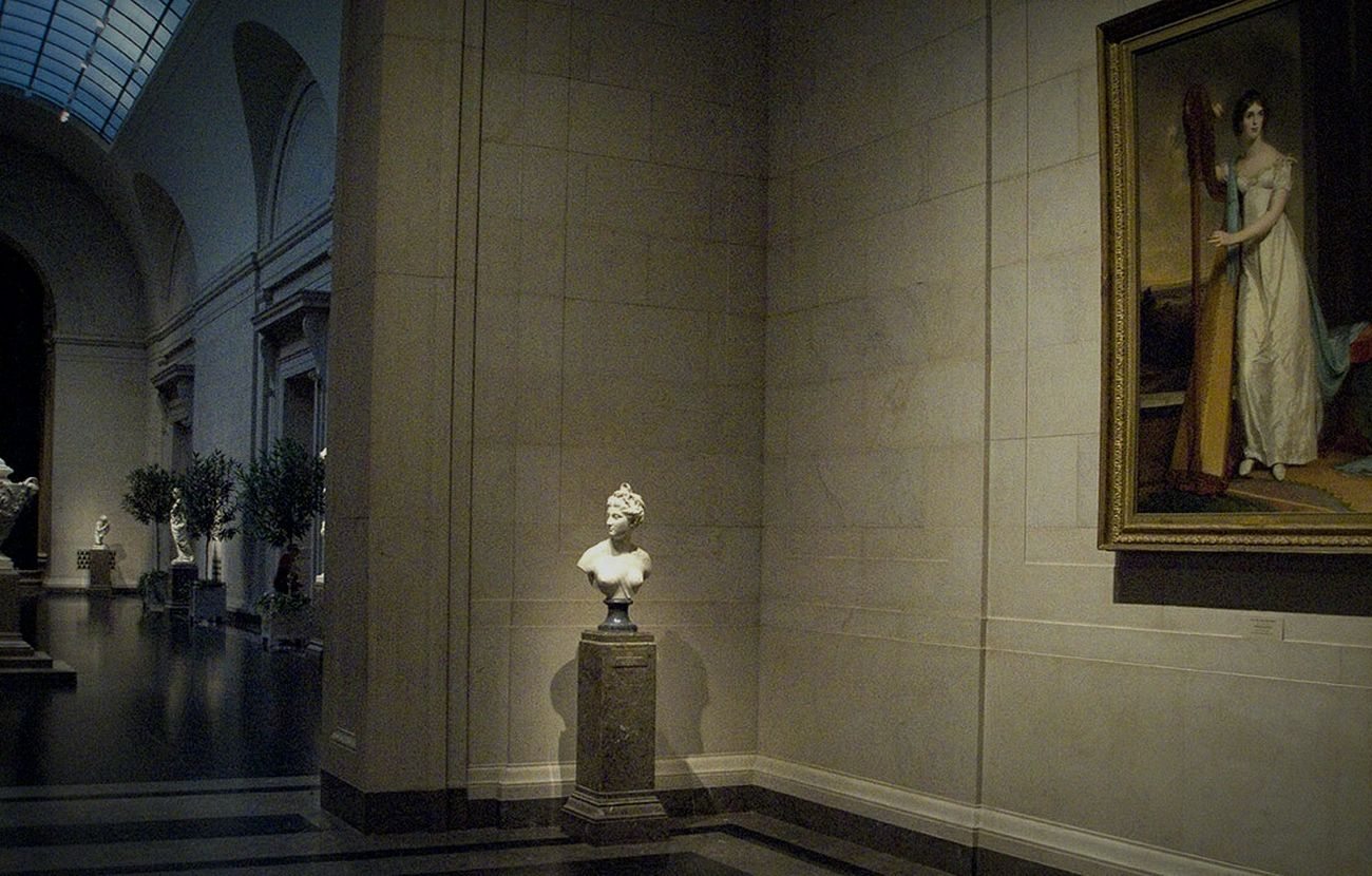 Two Women Exhibition Art Light And Shadow Architecture National Gallery Of Art