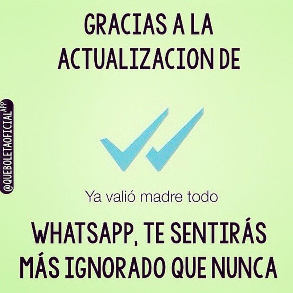 Tu mensaje fue visto e ignorado de frente🙈😂😂 True Visto WhatsApp Plüss