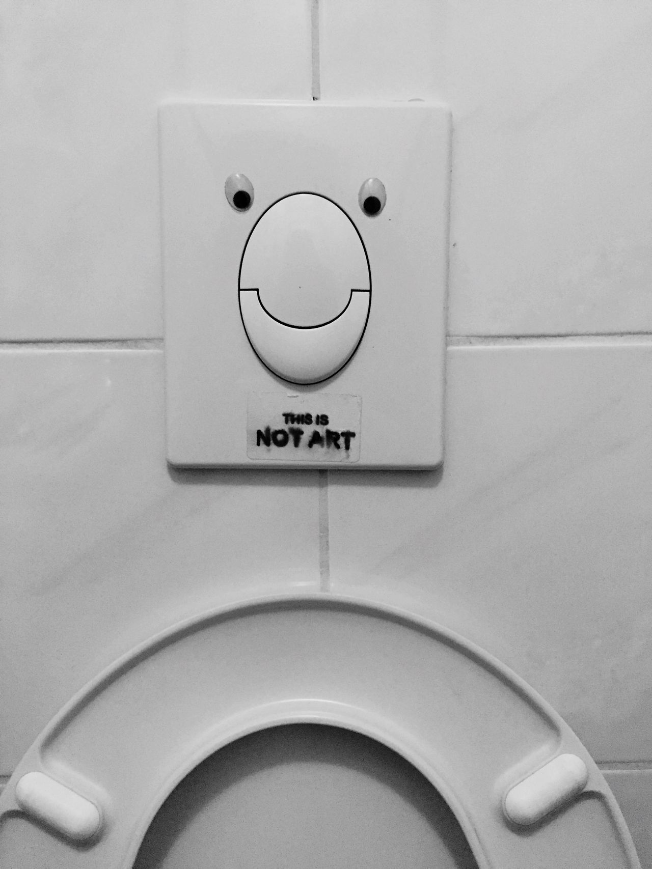 Close-up No People Indoors  Toilette Art Toilet Art Thisisnotart Blackandwhite I See Faces