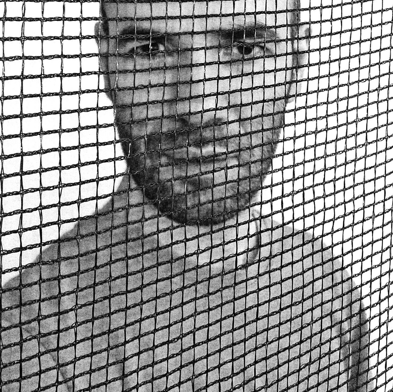 That's Me! Brazilian Beard Man Black & White Selfie Portrait Stylized Photo Behind Wires Faces Of EyeEm