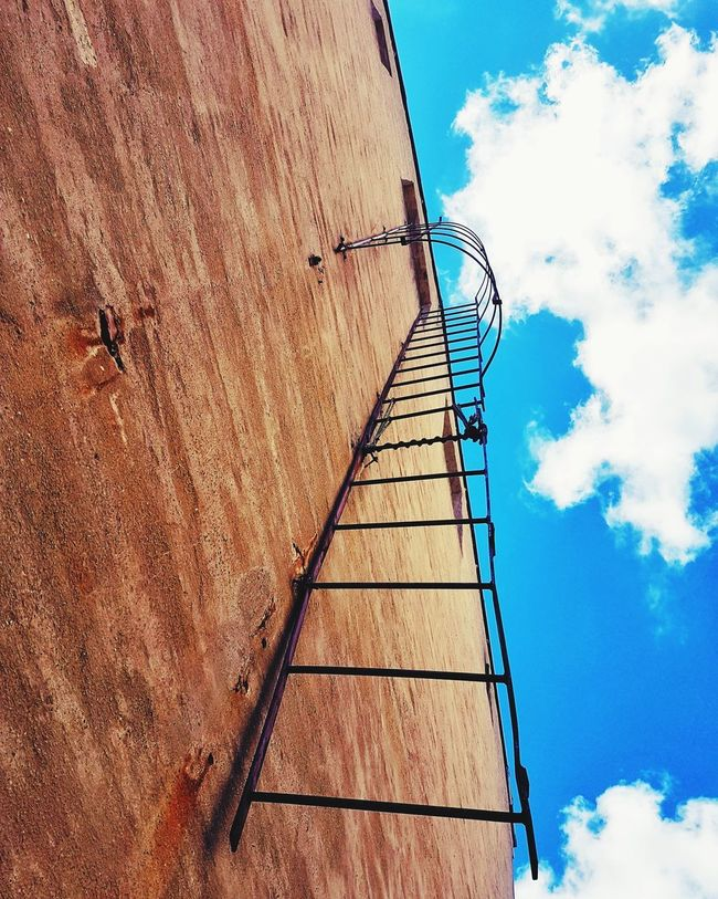 Skys the limit Outdoors Cloud - Sky Low Angle View Blue No People Ladder Skys The Limit Ladder To Heaven Architecture EyeEm Selects