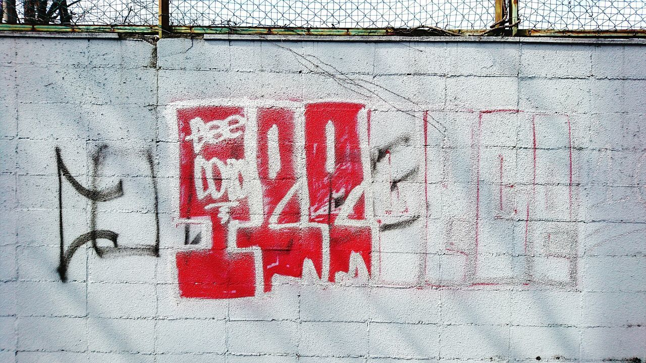 Red Text No People Close-up Outdoors Day Spray Paint Built Structure Building Exterior Architecture