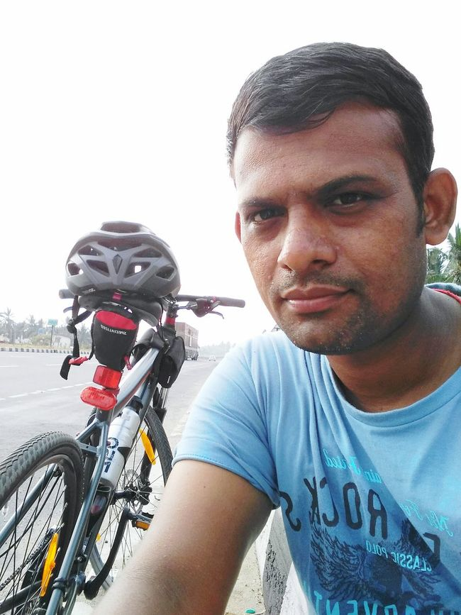 After a long ride taken break near avinashi... First Eyeem Photo