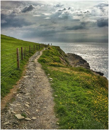 Cliff Walk... Wildatlanticway Clare Outdoors Scenics Sunset #sun #clouds #skylovers #sky #nature #beautifulinnature #naturalbeauty #photography #landscape Side Roads Nature IPhoneography The Great Outdoors - 2017 EyeEm Awards Tranquil Scene Eyeemphoto Tranquility