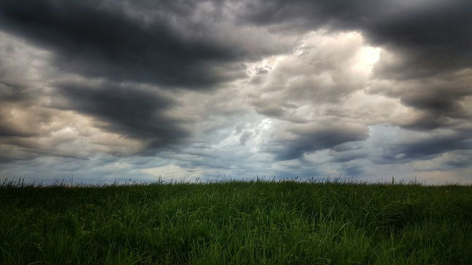 Green Beauty In Nature Outdoors Tranquil Scene Cloudy Landscape Grass No People Cloud - Sky Atmospheric Mood