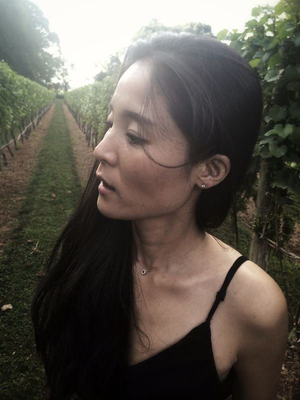 Wife in the vineyards.