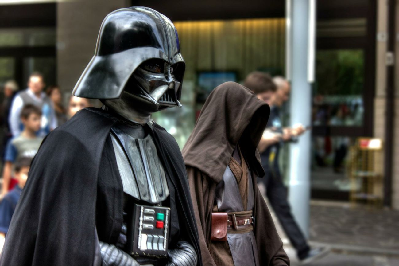 """""""Always two they are, no more, no less. A master and an apprentice"""". MayThe4thBeWithYou Tadaa Community Streetphotography Portrait Star Wars"""