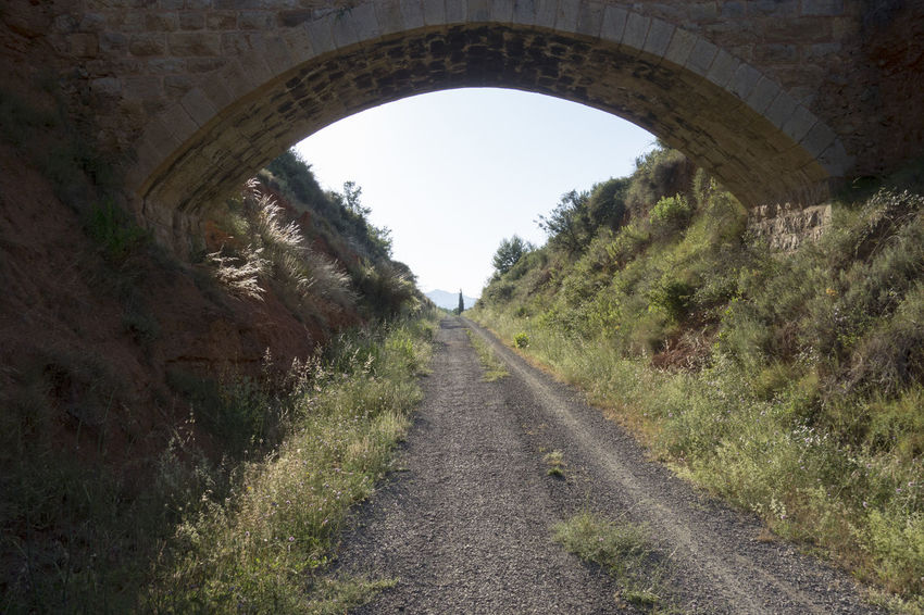 Arch Bike Castellón Clear Sky Cycling Day Grass Greenway Landscape Nature Nature No People Ojos Negros Outdoors Sky SPAIN The Way Forward Transportation Tree València Via Verde Way