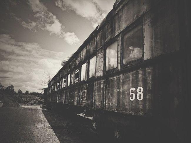 𐄝 𐄠 EyeEm_abandonment Urban Exploration Urbex Abandoned Blackandwhite Bw Train Capture The Moment