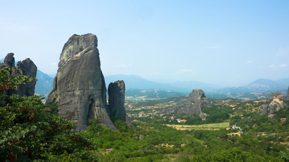 Beauty In Nature Day God Greece Landscape Meteora Mountain Nature Non-urban Scene Outdoors Religion Rock - Object Rock Formation Rock Formation Rocky Mountains Scenics Sky Tranquil Scene Tranquility Travel Travel Destinations Travel Photography Travelgram Traveling Travelphotography