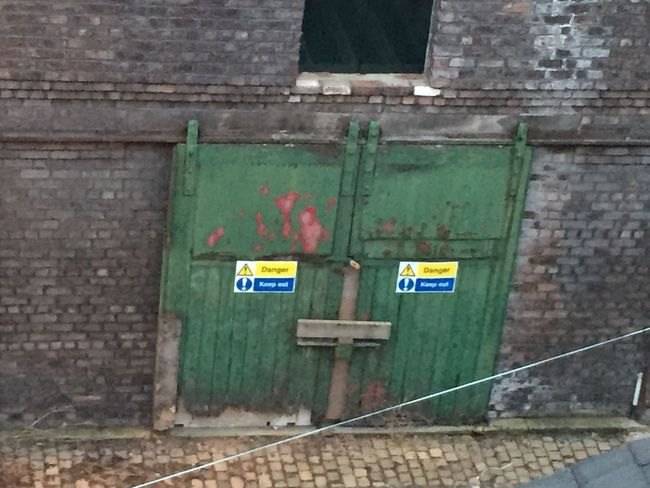 Dereliction Keep Out Danger Green Doors Old Stables
