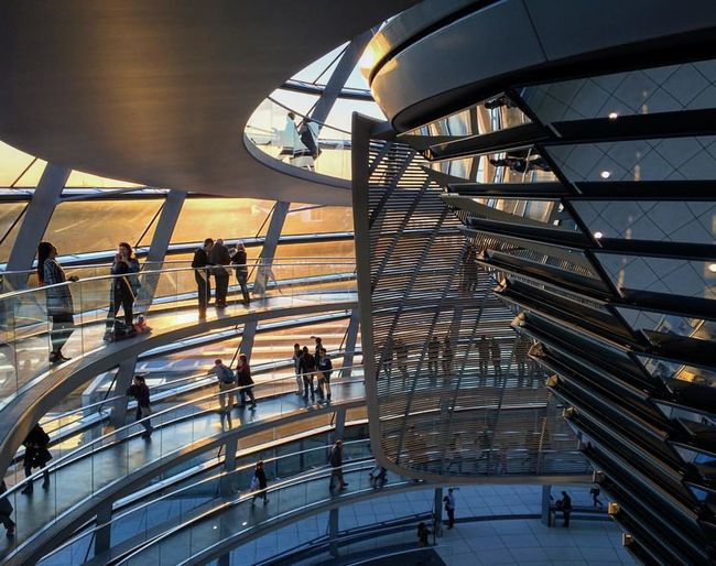 Architectural Feature Architecture Architecture Architecturelovers Berlin Design Germany Metal Modern Architecture Norman Foster Reichstag Sunset Travel