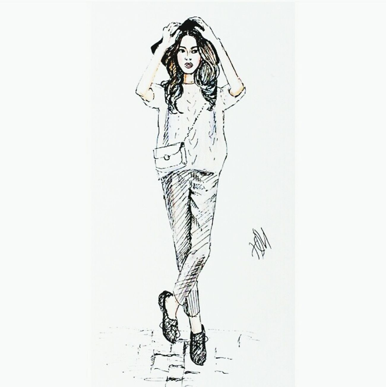 Illustration Drawing Fashionillustration Oldwork Pen Quicksketch