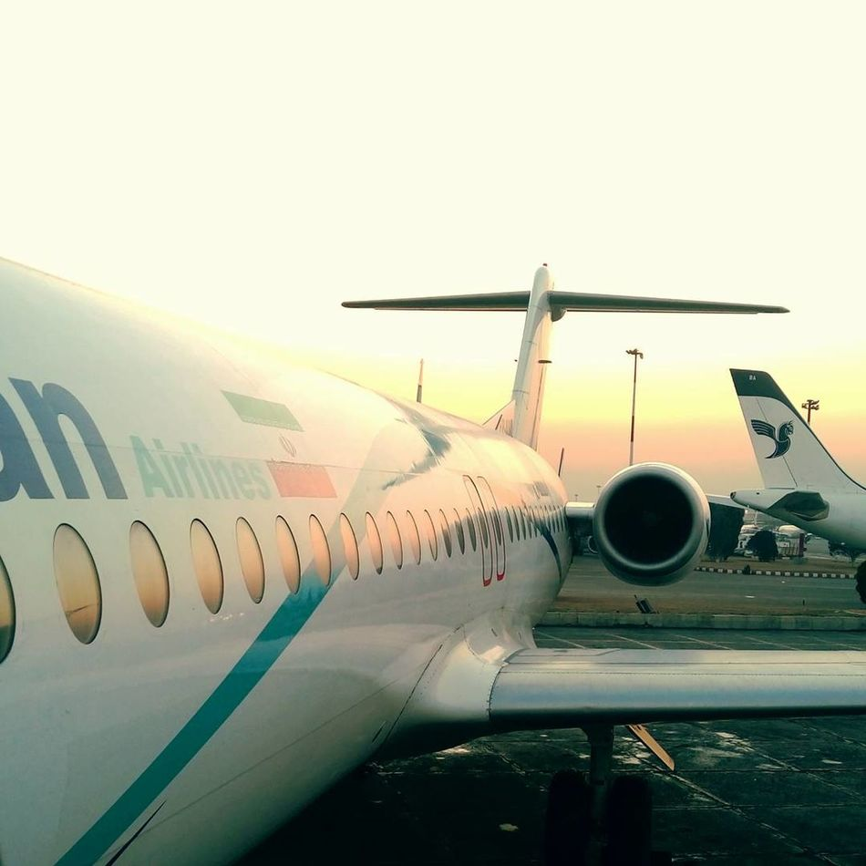 Airplane Transportation Travel Airport Commercial Airplane Air Vehicle Flying No People Mode Of Transport Aerospace Industry Journey Silhouette Aircraft Wing Business Finance And Industry Sky Airport Runway Outdoors Close-up Day Tehran Iran Mehrabadairport Fokker Fokker 100 Warmth