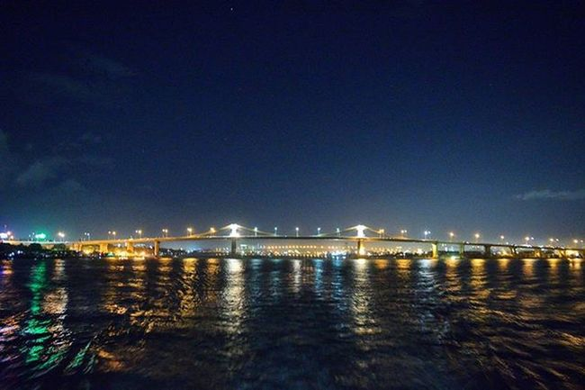"""""""Sometimes you have to, as I say, build bridges where you can - but draw lines where you must."""" -Fred Thompson . . . . . Fotografiaunited Ilovecebu Bridges EyeEm Best Shots EyeemPhilippines Cities At Night"""