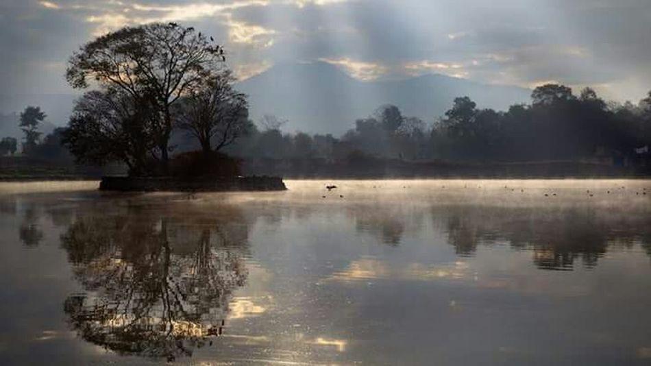Beautiful Evening💛 Beautiful Nature💛 Beautiful Scenery 💛Beautiful Pond Beautiful Reflection 💛Peace And Quiet 💛 Mobilephotography 💛