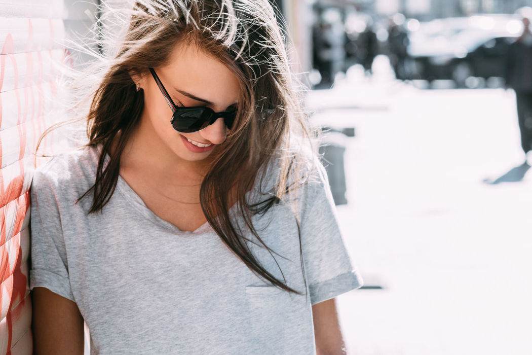 Beautiful Candid Day Girl Hair Hairstyle Informal Leisure Activity Lifestyles Long Hair Natural Light Outdoors Person Portrait Street Sunglasses Sunlight Woman Young Adult Women Around The World