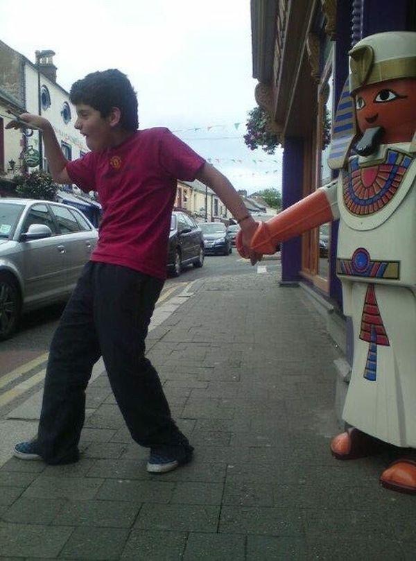 Walk Like An Egyptian Wicklow Town LEGO