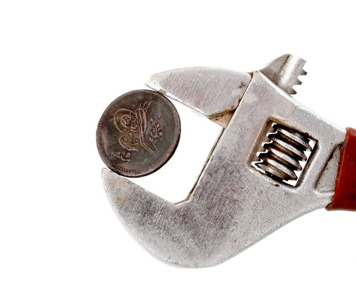 old ottoman coin Bosphorus, Istanbul Close-up Coin Finance Istanbul Izmir Metal Money Money Money Money No People Otoman Coin Ottoman Empire Pipe Wrench Pliers Pressed  Turkey White Background