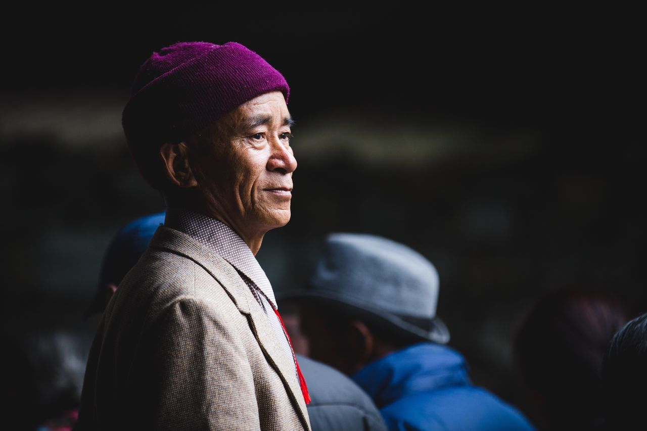 The Portraitist - 2016 EyeEm Awards another one from the lama reincarnation 🙏🏾 my favourite guy... He was so calm while hundreds of people were bustling around him 😊 Nepal Celebration Portrait Guy Man Travel Calm