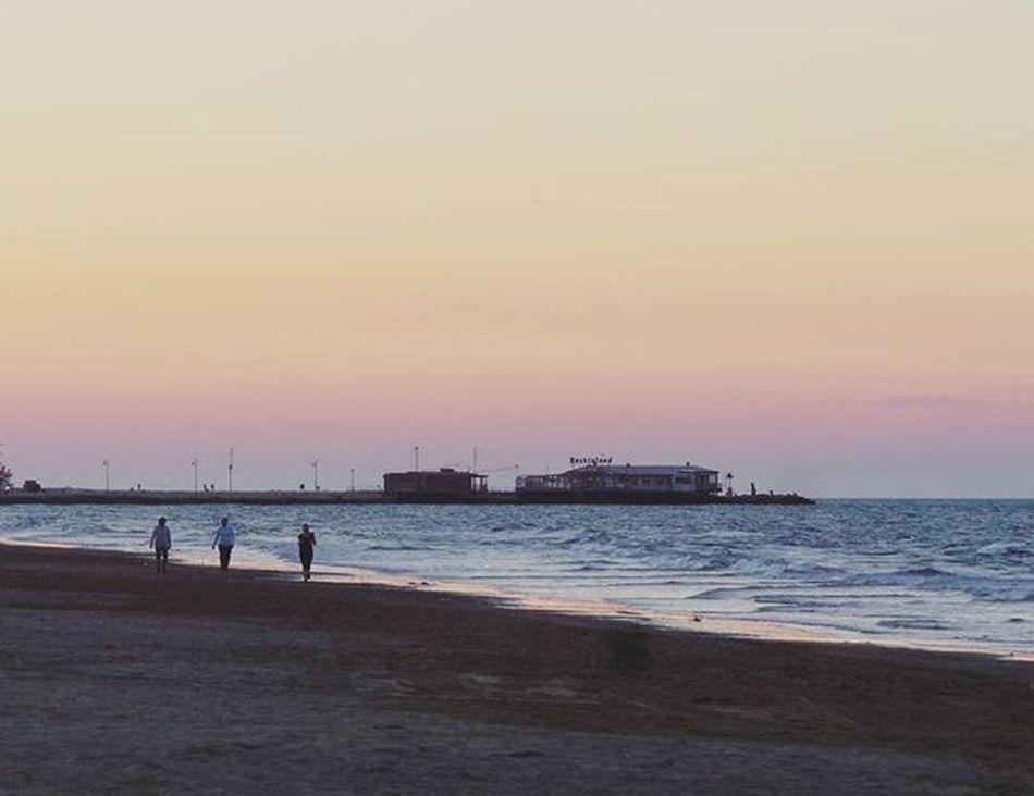 You might not say that its a wonderful world Italypicoftheday Italy Sea Rimini Adriatic Adriaticsea Beach Sunset Sunset_pics Nature People Quite Quiettime Italia Naturephotography Naturephoto