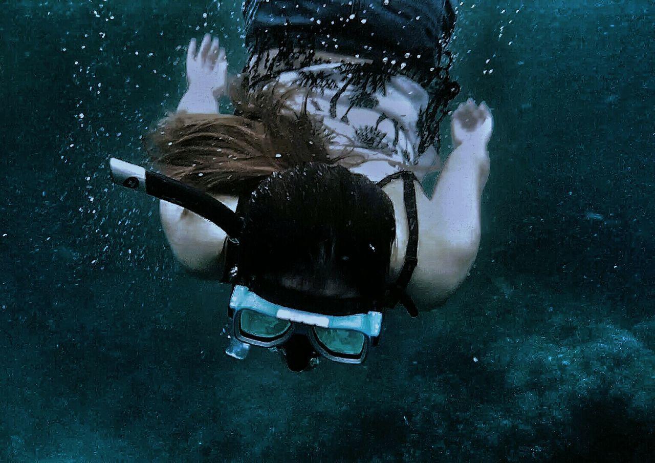 Miles Away Underwater Outdoors Swimming Snorkeling UnderSea Day Sea Love Blue Water Beach Filipina MasasaBeach Philippines