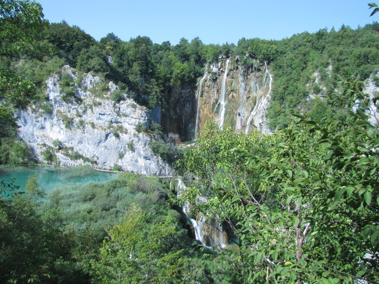 Waterfalls And Mountains At Plitvice Lakes National Park