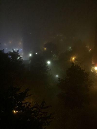 Foggy evening. Fog Foggy Night Fogporn Fog_collection