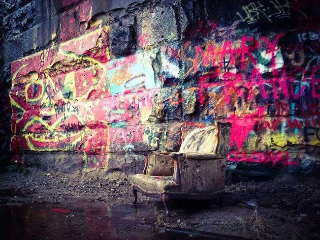 Lair Gothic Beauty  Goth Graffiti Streetart Athens Georgia Southerngothic Train Tracks Horror Mystery Darkart