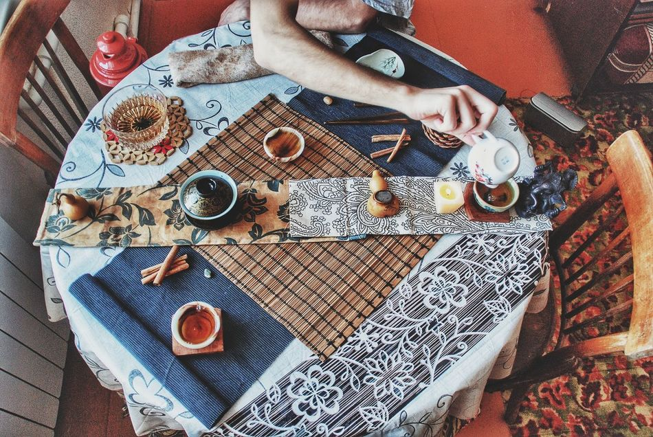 Table Food And Drink Close-up Indoors  Drink Time Tablecloth Real People Low Section Day Чай Tea Самара Samara Tea Time чайнаяцеремония Japanese Tea Cup Tea Cup Teapot EyeEmNewHere