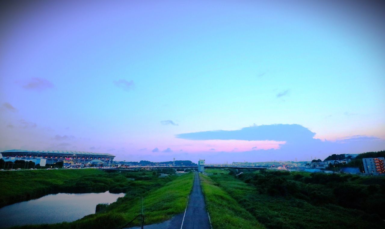 Sunset The Way Forward Road Transportation Sky Outdoors No People Landscape Nature Day Built Structure Architecture Beauty In Nature Clear Sky City EyeEmNewHere