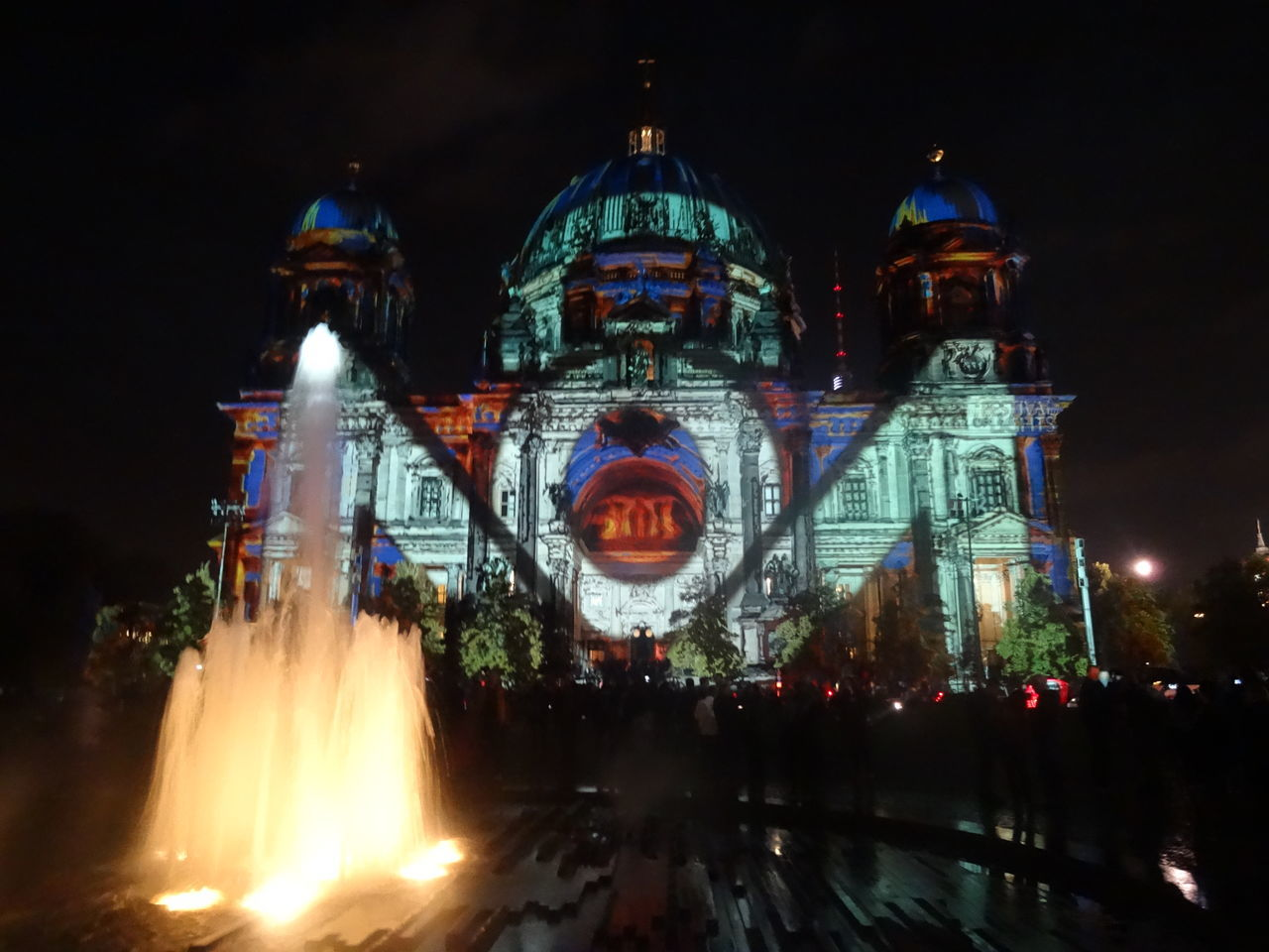 Architecture Berlin Berlin Cathedral Berlin Leuchtet Berliner Dom Berlinleuchtet Cathedral City Life City Lights City Lights At Night Festival Of Lights Fountain Illuminated Night