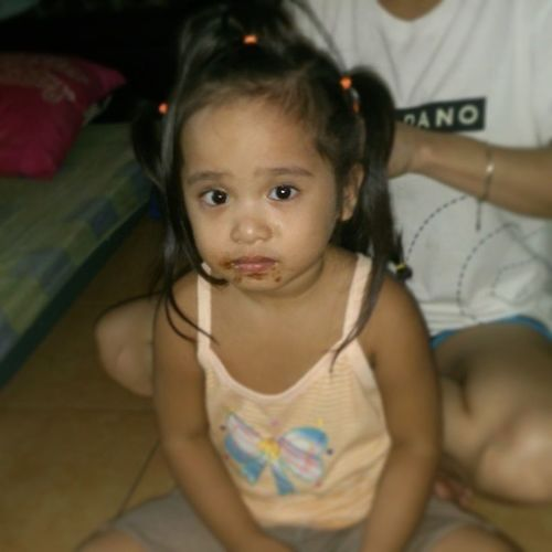 Aftereating Chocolates and while Doingherhair MyNiece