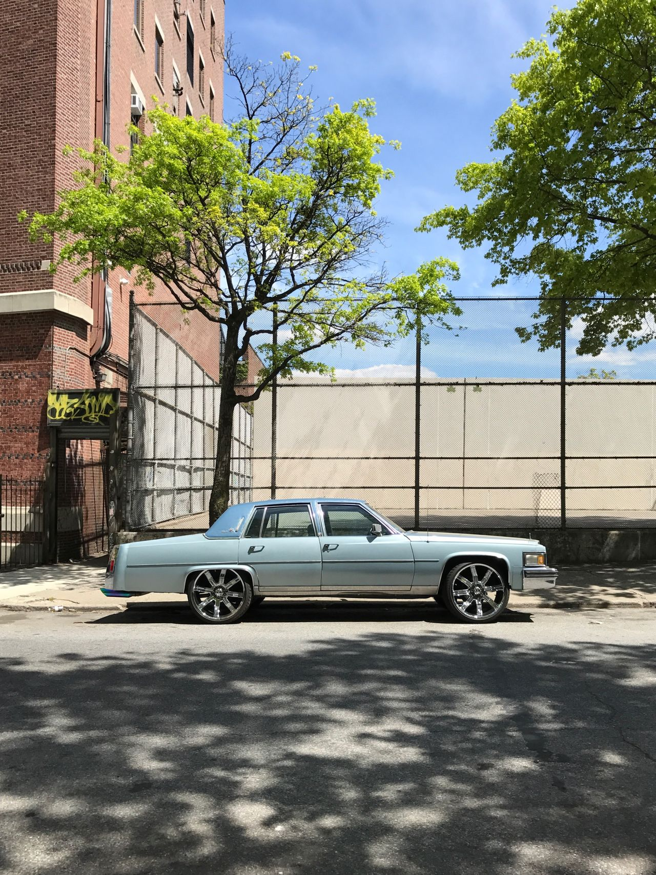 Car Transportation Architecture Built Structure Building Exterior Mode Of Transport Tree Day No People Stationary Sky Outdoors City Streetphotography Minimalistic Minimalism Aesthetic Aesthetics New York Pimp Wheels Chrome Car Tuning Brooklyn Vintage The Street Photographer - 2017 EyeEm Awards