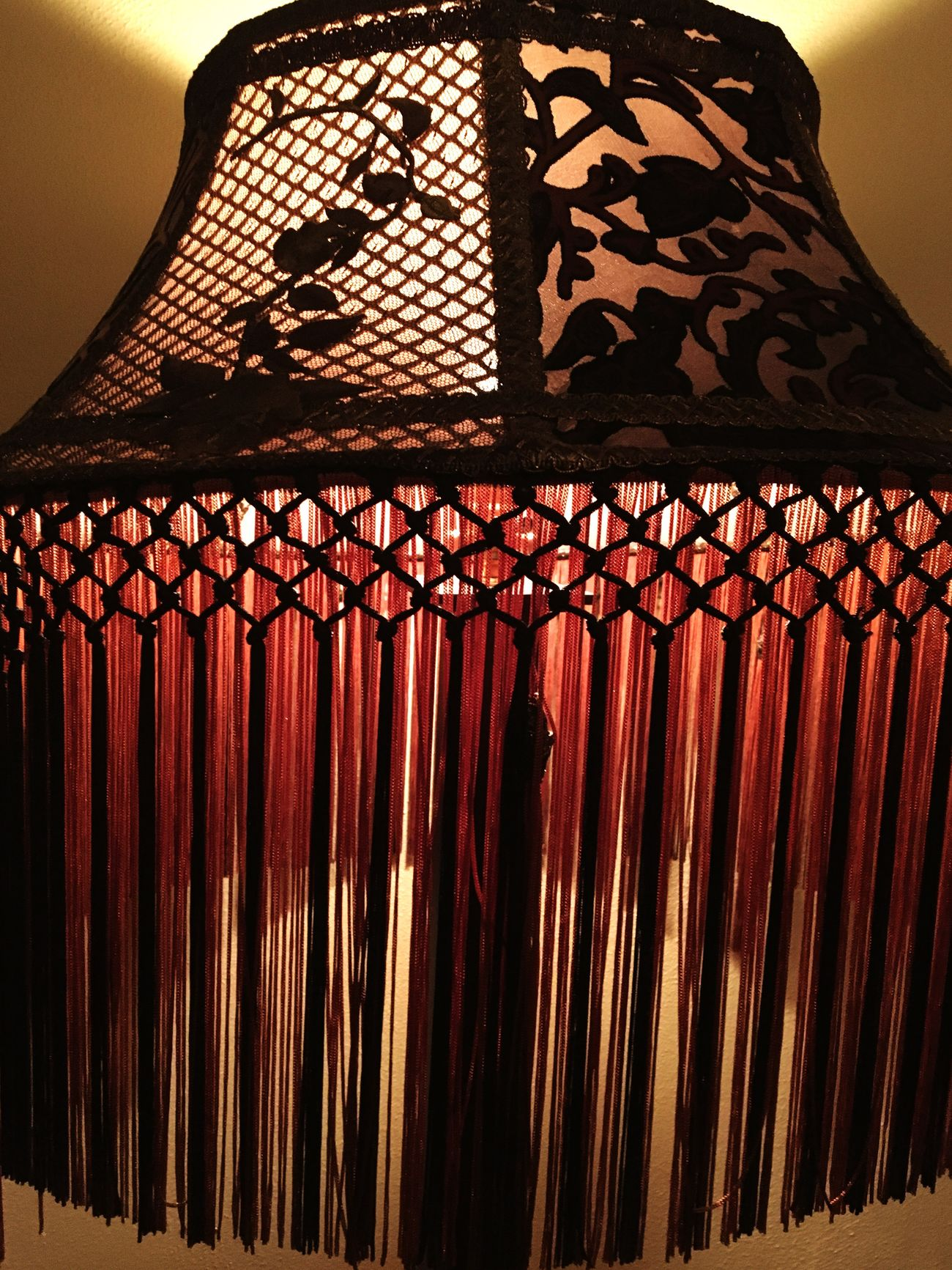 Beautiful Victorian Lampshade Fringe Victorian Charm Victorian Style Victorian Lighting Lampshade Warm Lighting Light And Shadow Warmth Pattern Mcmenamins Art Photography Abstract Photography Warm Colors Columbia River Gorge Troutdale, Oregon Wood Village No People