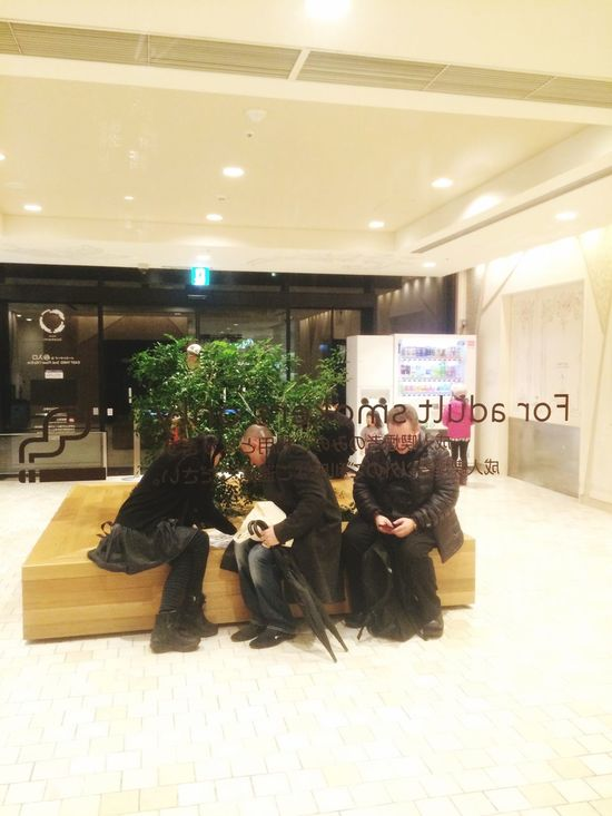 Gifts time... through a smoking area. My Journey To Japan From The End To The Begin Last Winter RePicture Travel