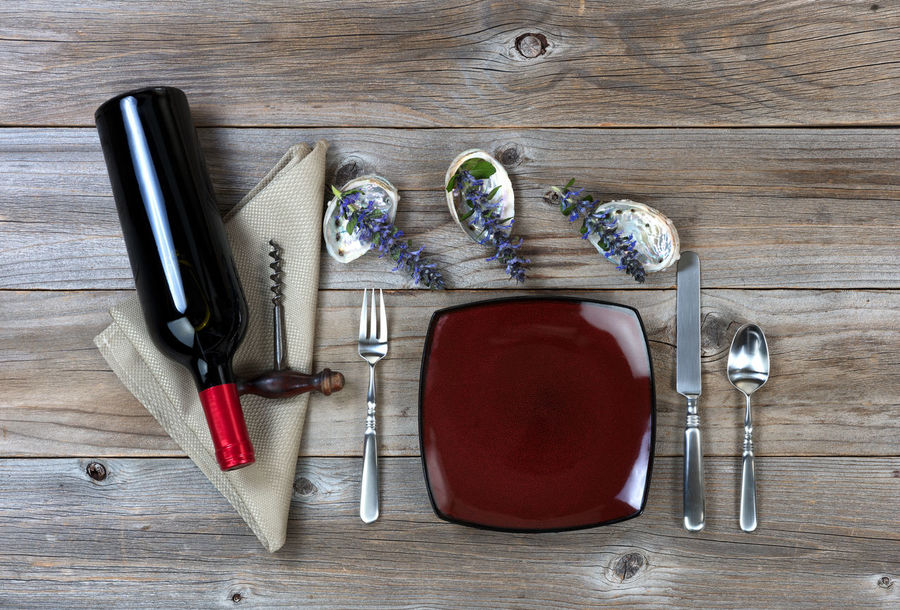 Dinner table setting with red wine Dinner Dinnerware  Dish Flatware Food And Drink Silverware  Table Wine