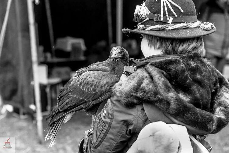 Timetravel FANTASYWORLD Canon5dmarkiii Bird Of Prey Steampunk Canon 70-200 F2.8 L IS-II Fantasy Fair Duinrell Julesverne Blackandwhite