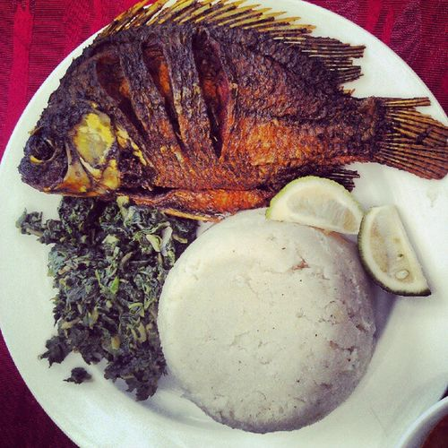 Lunch Fish Ugali @african_portraits AfricanFood samaki webstagram