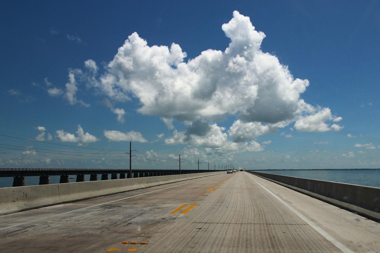 nine mile bridge, key islands Cloud - Sky Day Nature Nine Mile Bridge, Key Islands No People Orizon Outdoors Road Sky Street Transportation Turnpike