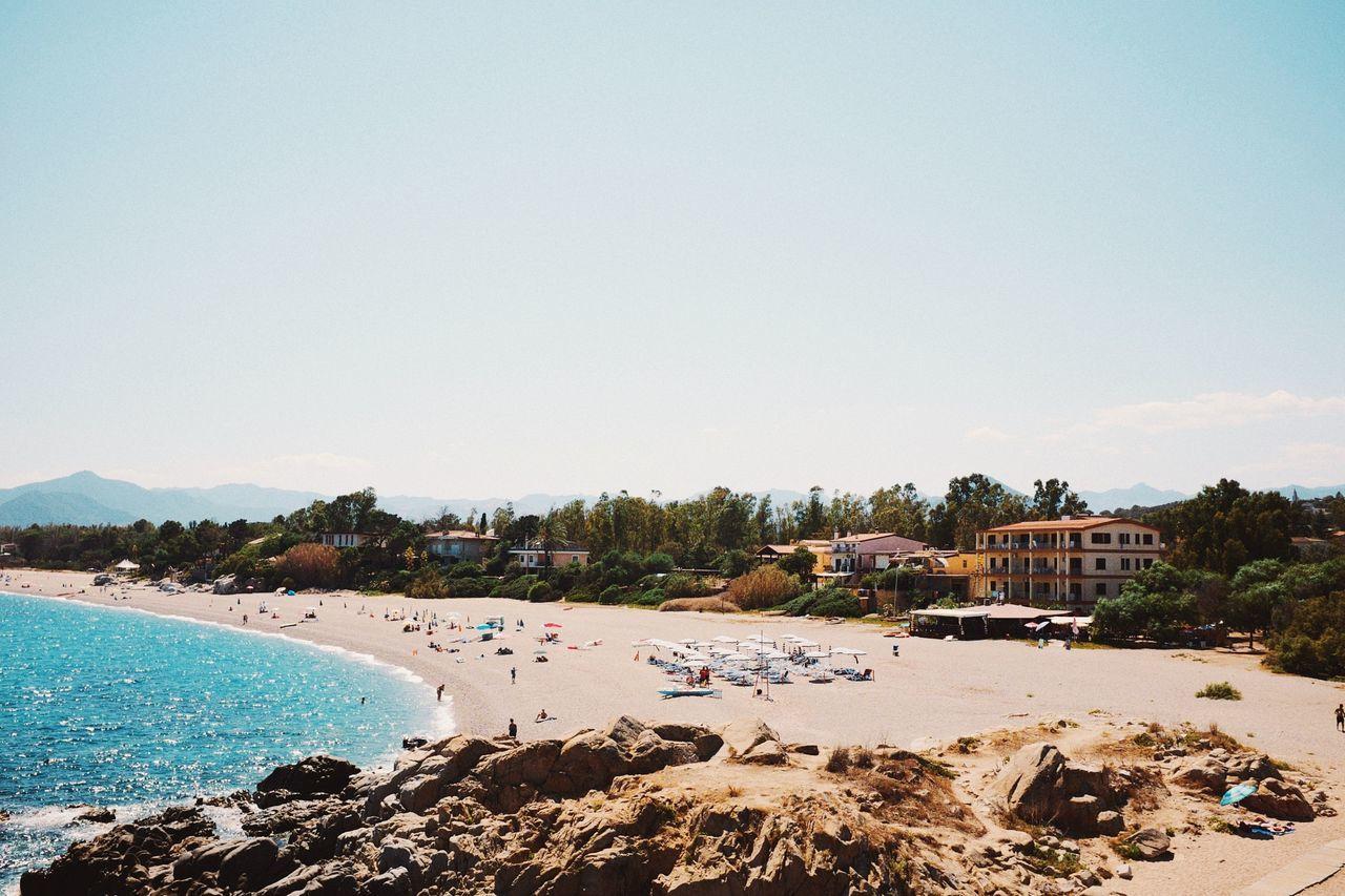 Beautiful stock photos of italien, Bari Sardo, Beach, Blue, Clear Sky