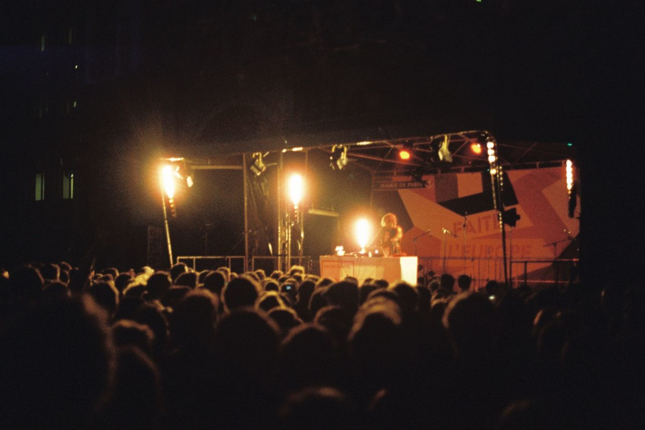 Concert Free Paris Apparat Night Canon AE-1 Filmisnotdead Analogue Photography Music Large Group Of People Music Performance Arts Culture And Entertainment Crowd Audience Real People Lifestyles Event Stage - Performance Space Nightlife Popular Music Concert Performing Arts Event Togetherness People Outdoors