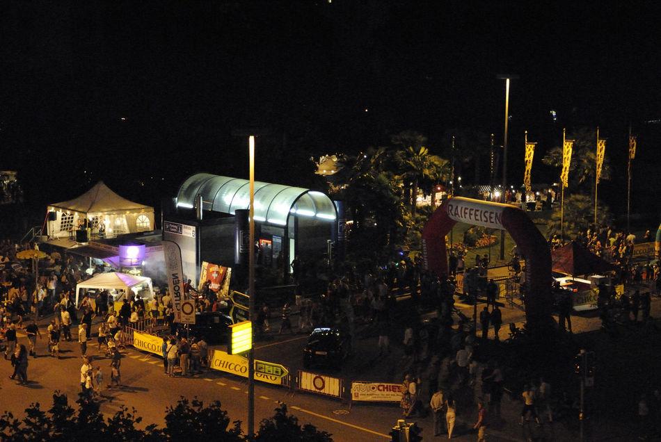 Architecture Celebraton City Crow Illuminated Night Outdoors Sky