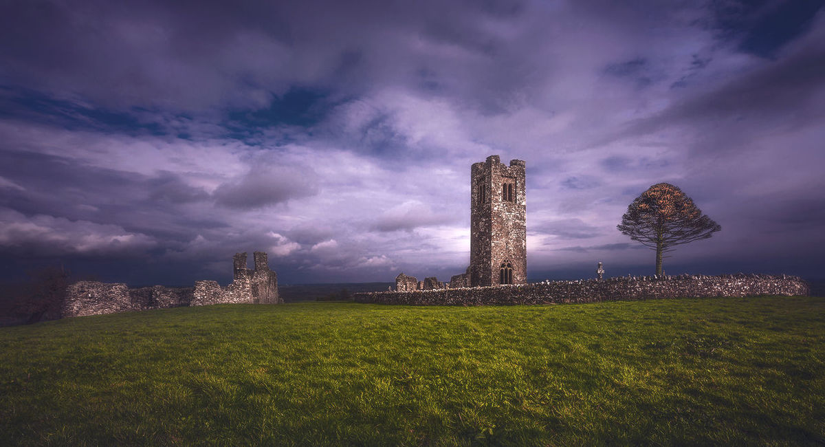 Architecture Field Hill Of Slane History Ireland No People Old Ruin Sky The Past Tower
